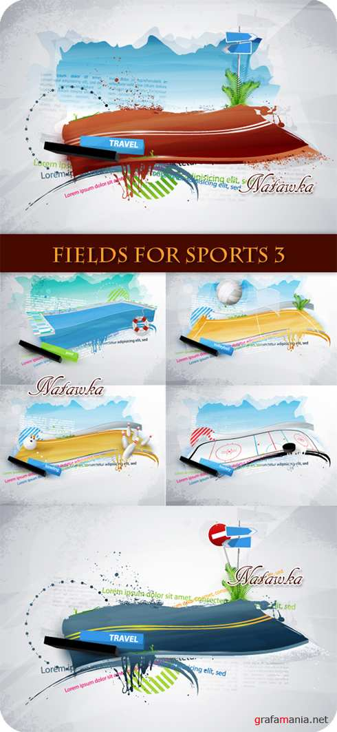 Fields for sports - Stock Vector 3