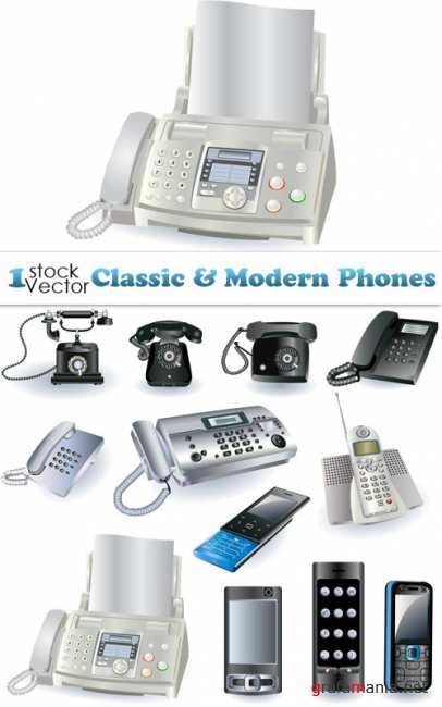 Classic & Modern Phones Vector