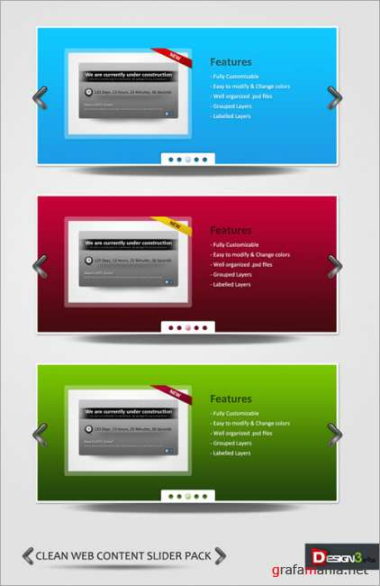 Clean Web Content Slider Pack