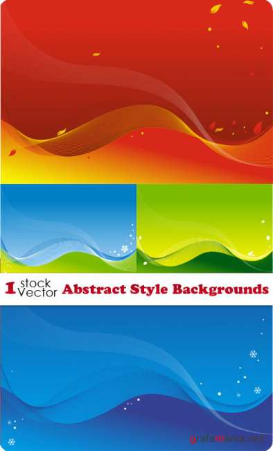 Abstract Style Backgrounds Vector