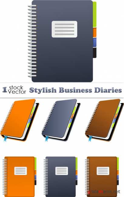 Stylish Business Diaries Vector