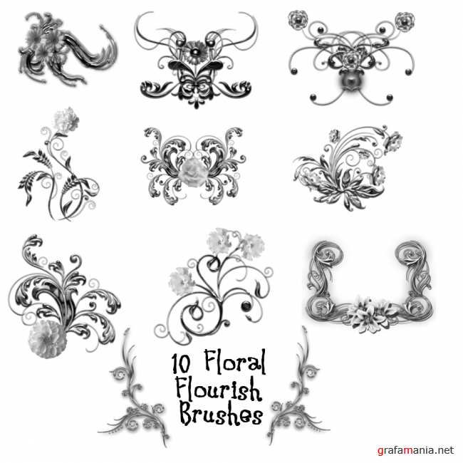 ��������� ����� / Floral Flourish PS Brushes