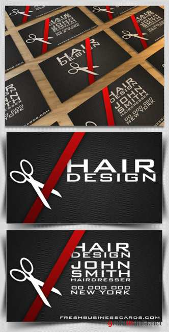 Business Card Template for Hairdresser