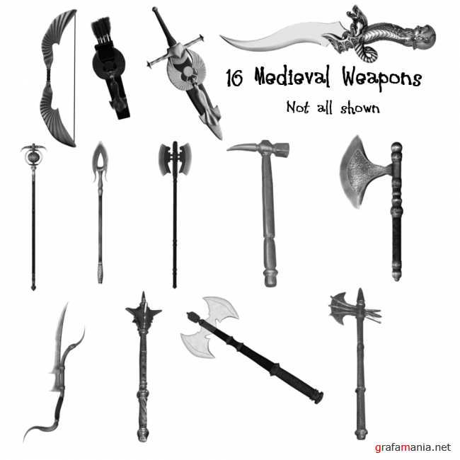 Medieval Weapon PS Brushes