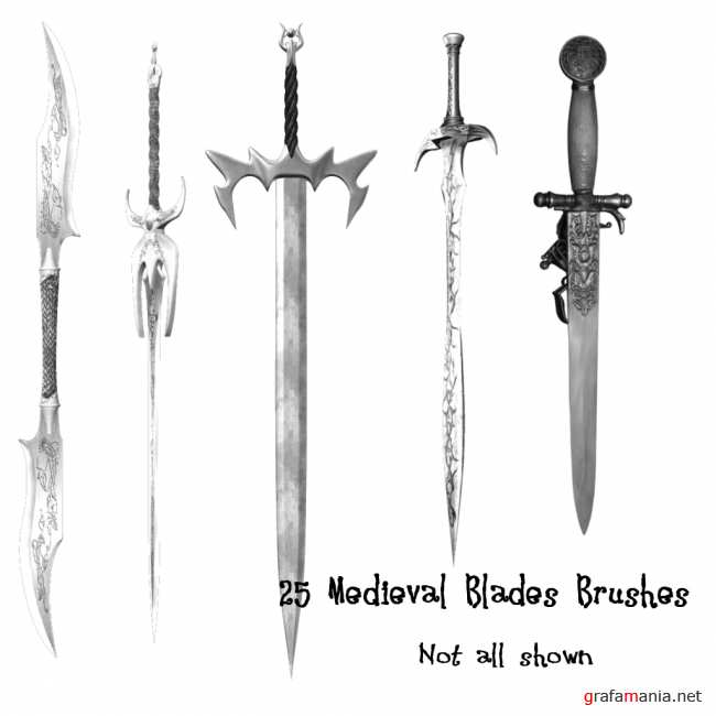 Medieval Blade Weapon PS Brushes