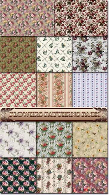 Flowers patterns pack