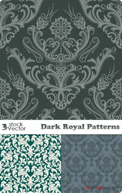 Dark Royal Patterns Vector