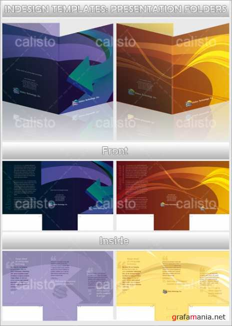 InDesign Templates Presentation Folders