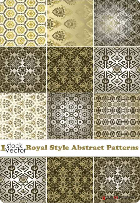 Royal Style Abstract Patterns Vector