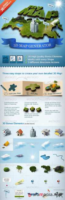 3D Map Generator - Action - GraphicRiver