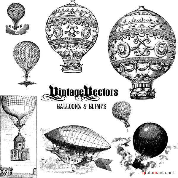 Vintage Balloons and Blimps