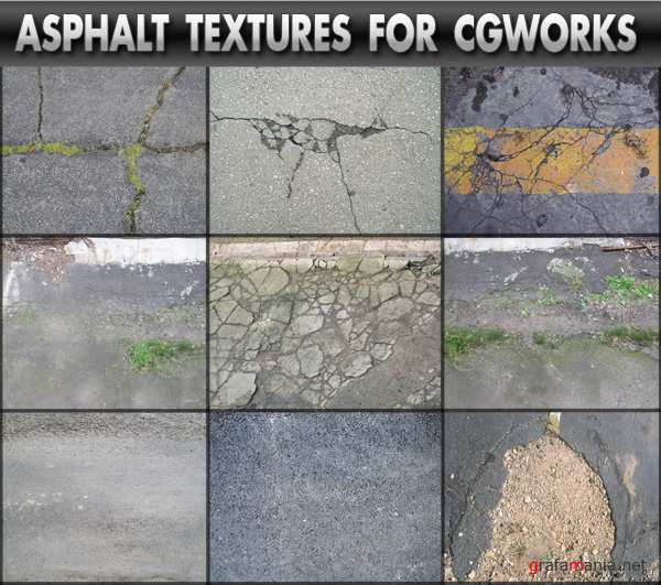 "Asphalt Textures For CG Works | Текстуры ""Асфальт"""