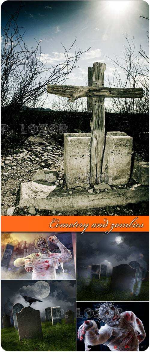 Cemetery and zombies