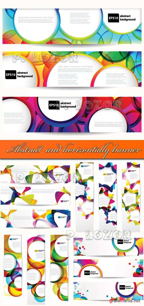 Abstract vertical and horizontally banner