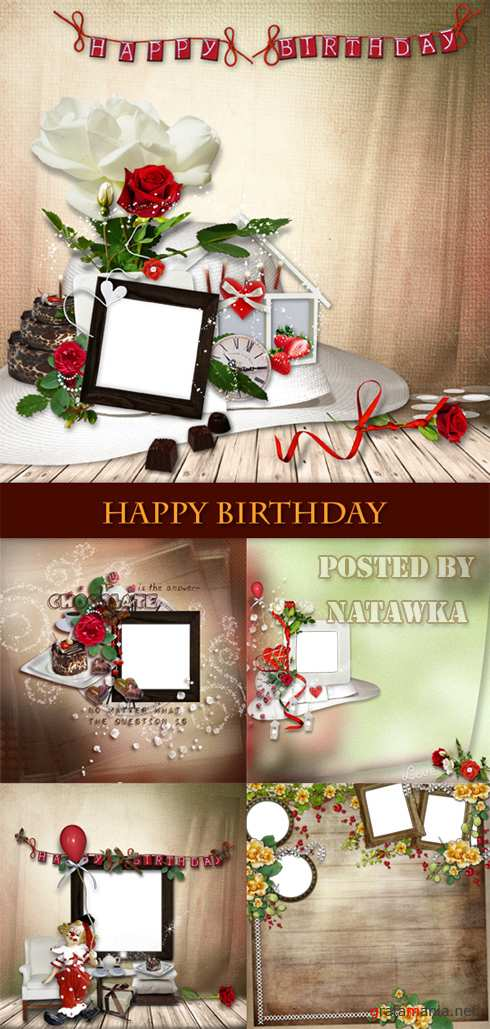 Scrap frames - Happy Birthday