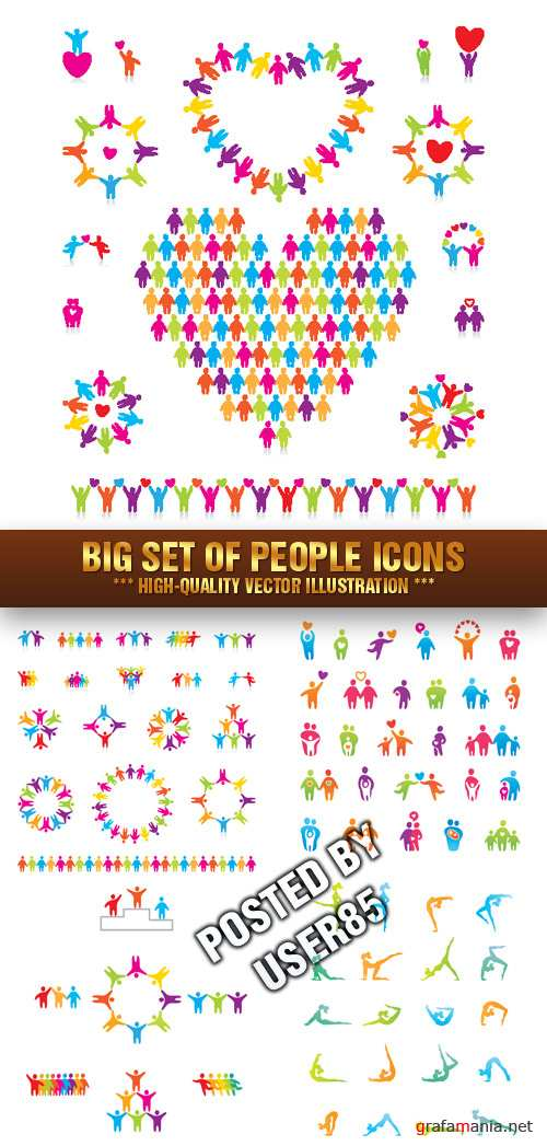 Stock Vector - Big Set of People Icons