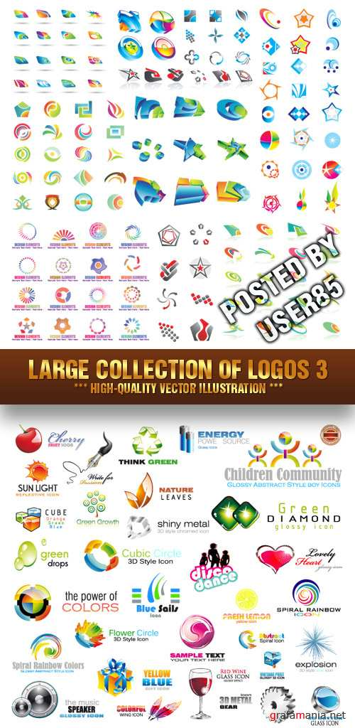 Stock Vector - Large Collection of Logos 3