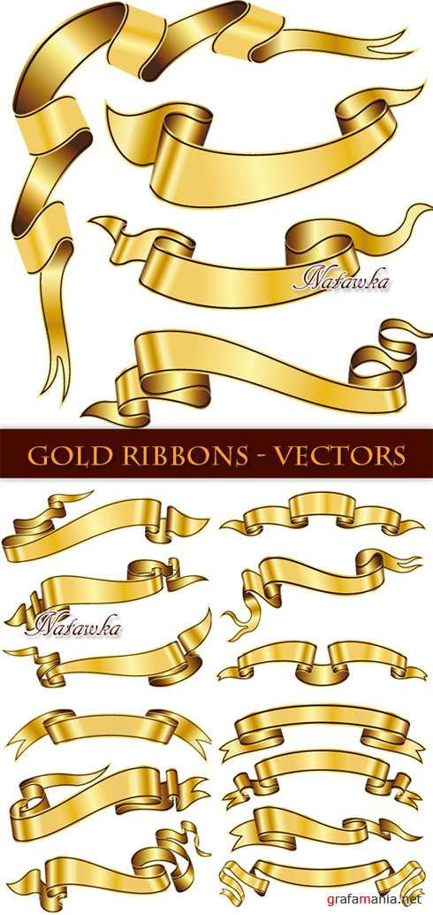 Gold Ribbons - Stock Vectors
