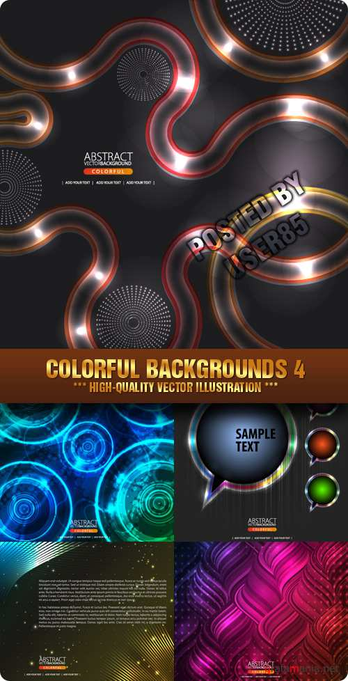 Stock Vector - Colorful Backgrounds 4