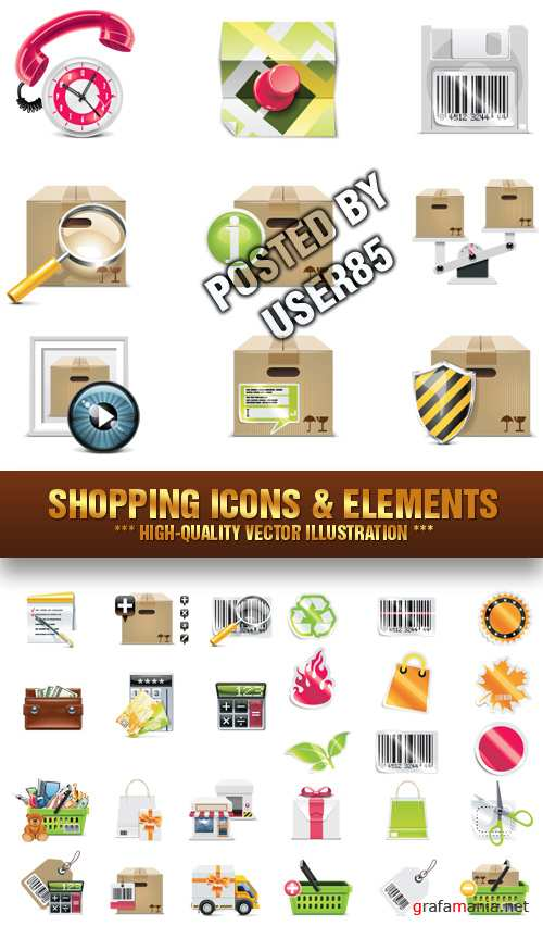 Stock Vector - Shopping Icons & Elements