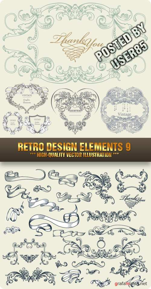 Stock Vector - Retro Design Elements 9