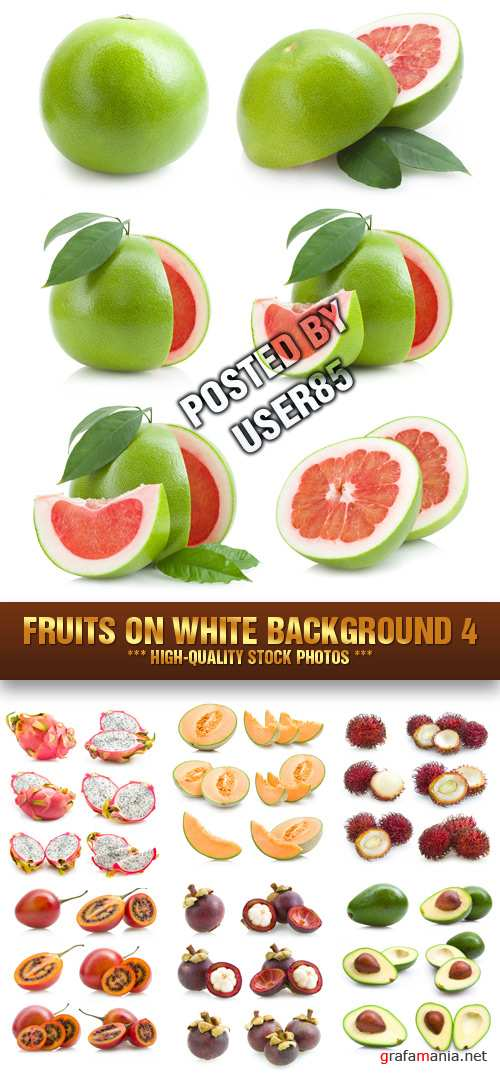 Stock Photo - Fruits on White Background 4