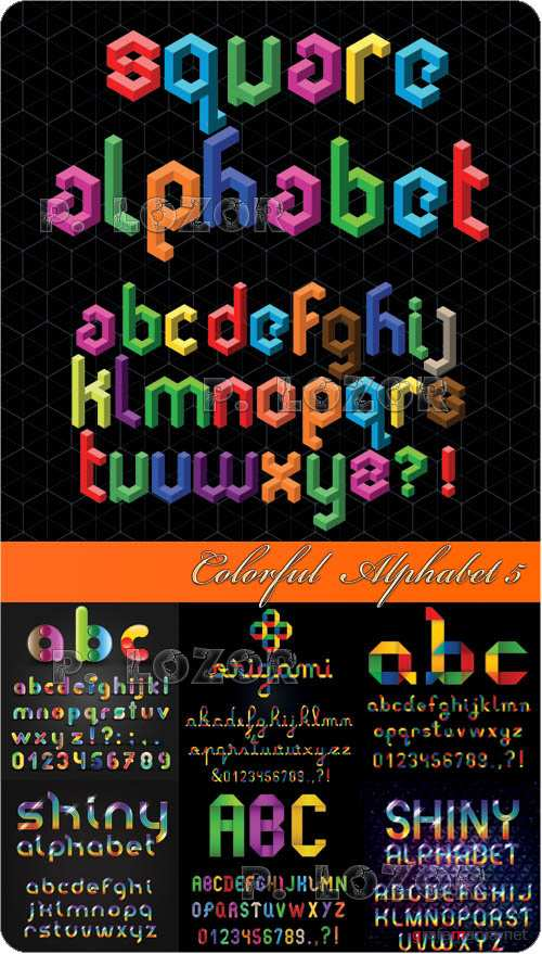 Colorful  Alphabet 5