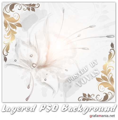Layered Flower Background