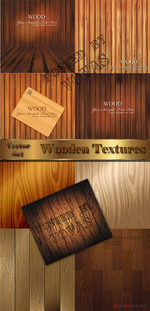 Wooden Textures in Vector