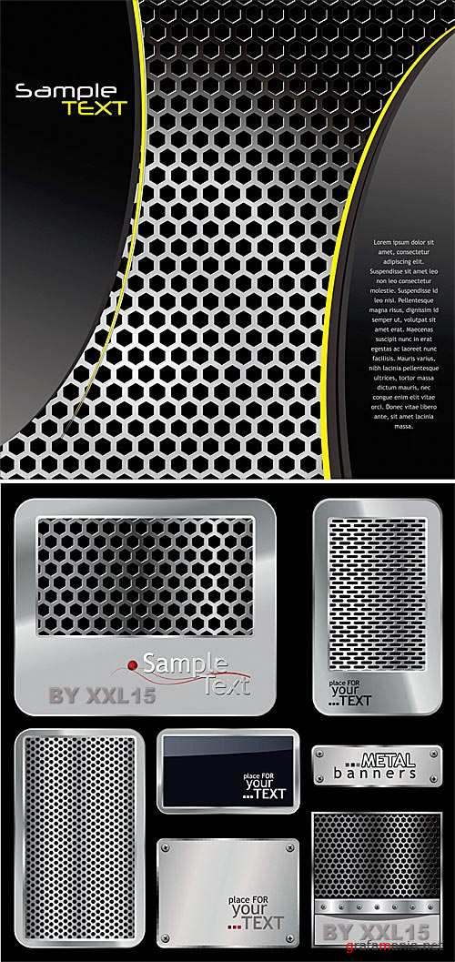 Perforated metal backgrounds