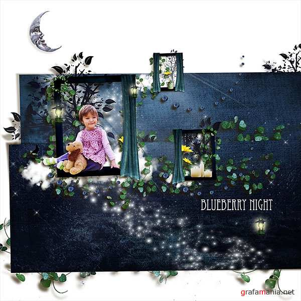 Scrap kit  Blueberry Nights