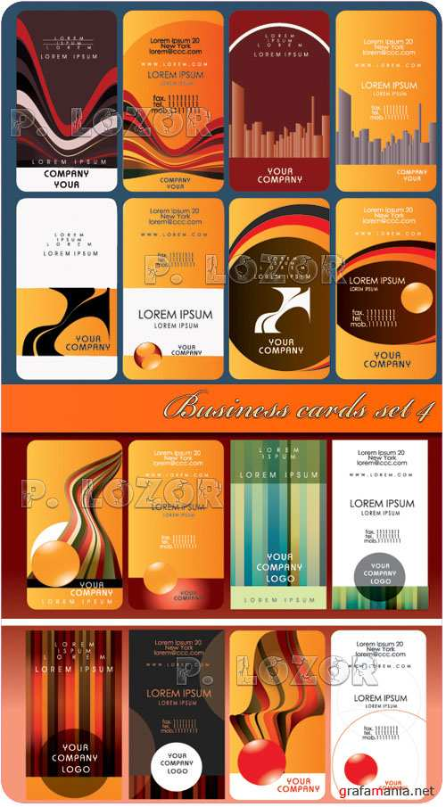 Business cards set 4