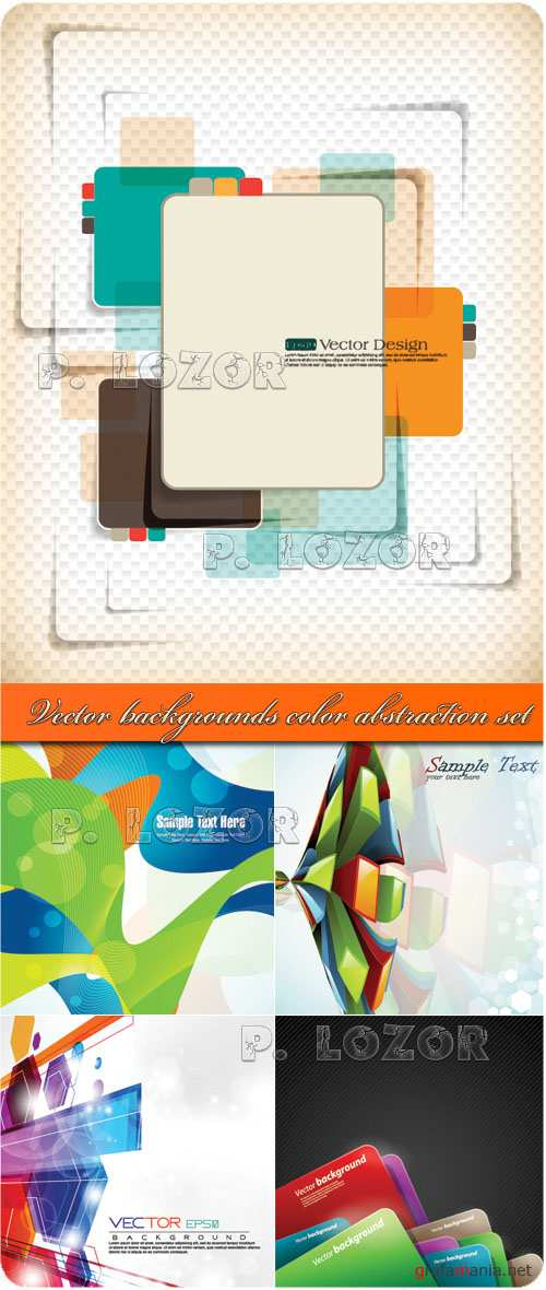 Vector backgrounds color abstraction set