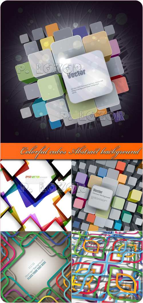 Colorful cubes Abstract background