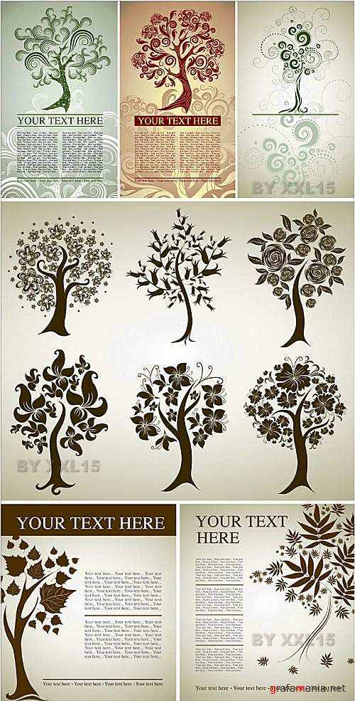 Design with decorative trees