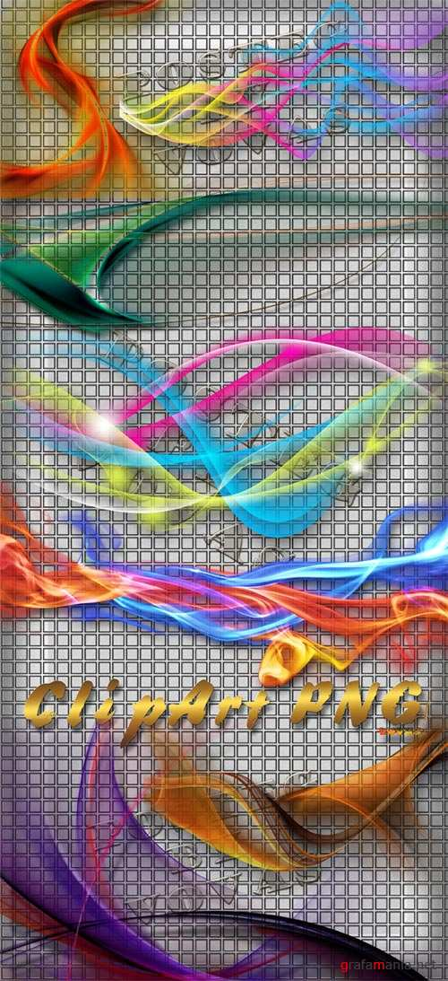 Clipart PNG Varicoloured Smoke 1