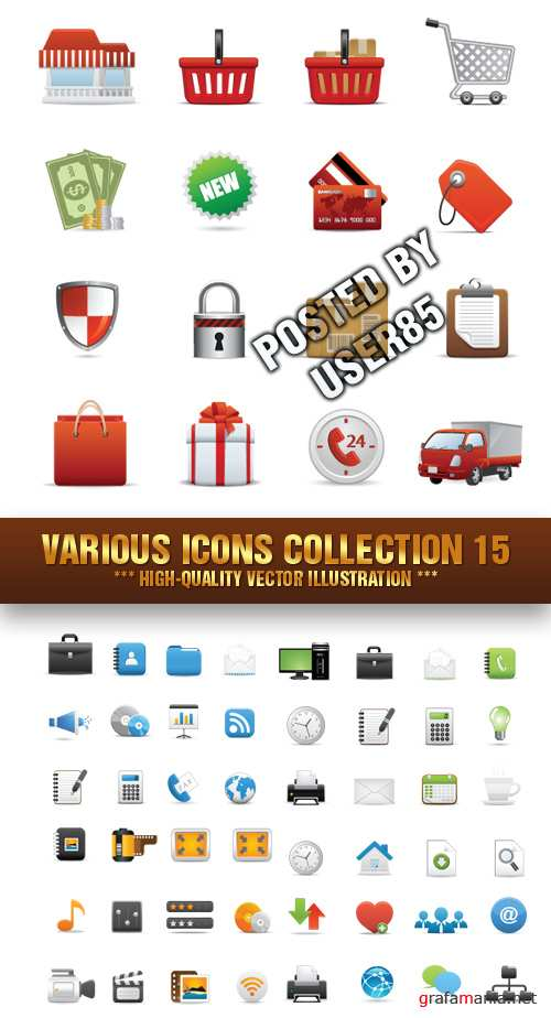 Stock Vector - Various Icons Collection 15