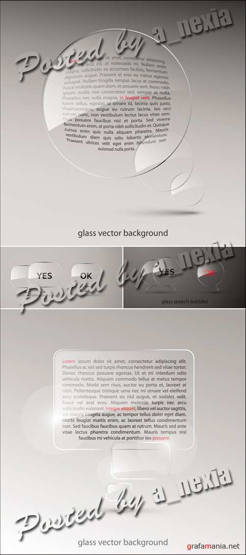 Backgrounds with Glass Vector