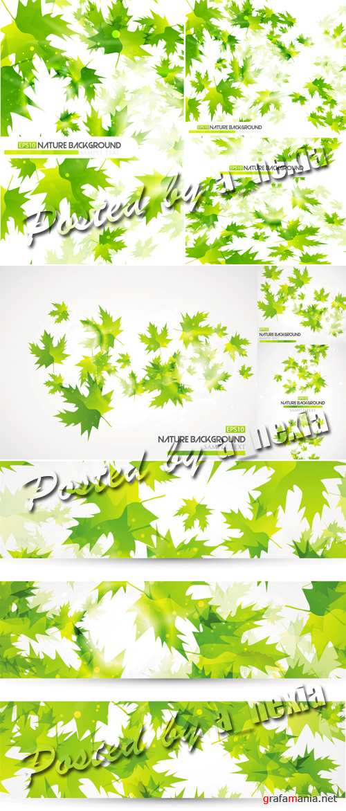 Green Leaves Vector 2