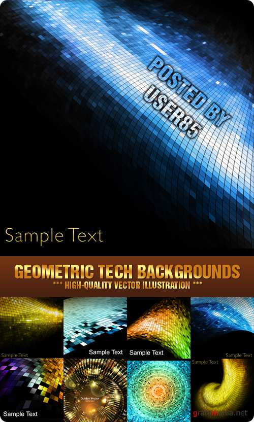 Stock Vector - Geometric Tech Backgrounds