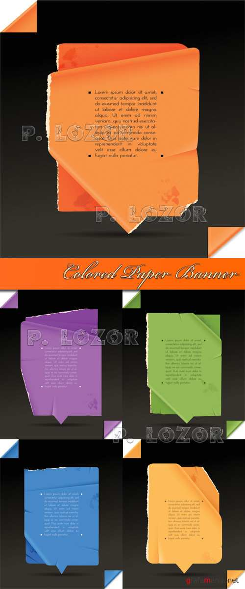 Colored Paper Banner