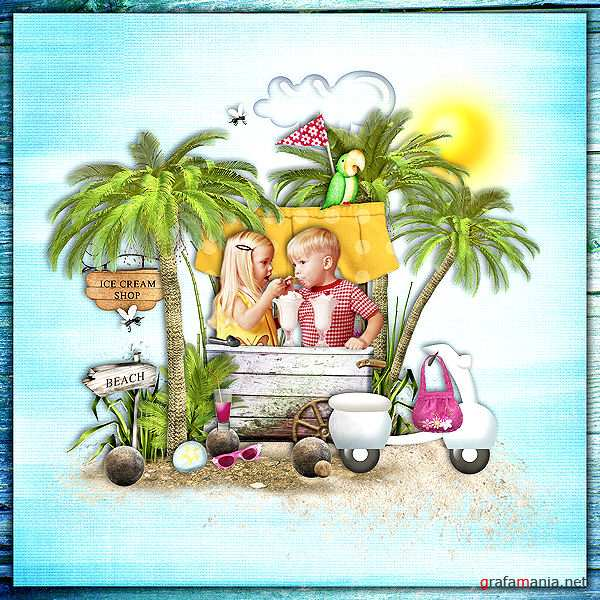 Scrap kit   Summer Holidays
