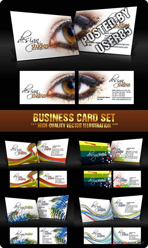 Stock Vector - Business Card Set
