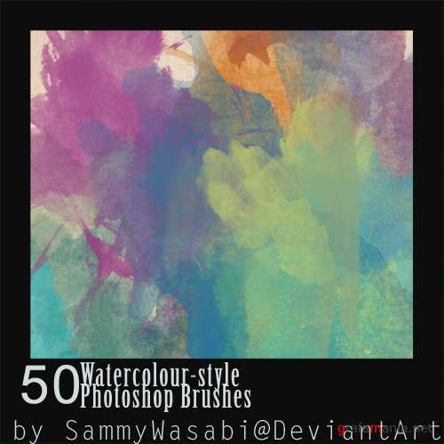 50 ����������� ������ / 50 Watercolour-Style brushes