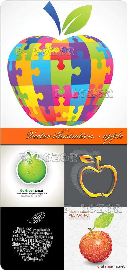 Vector illustration - apple