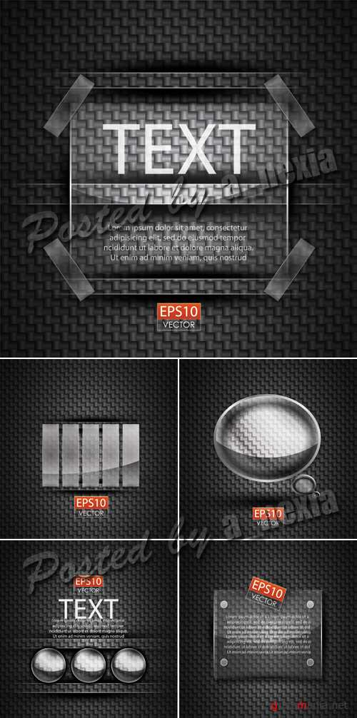 Black Backgrounds with Glass Vector