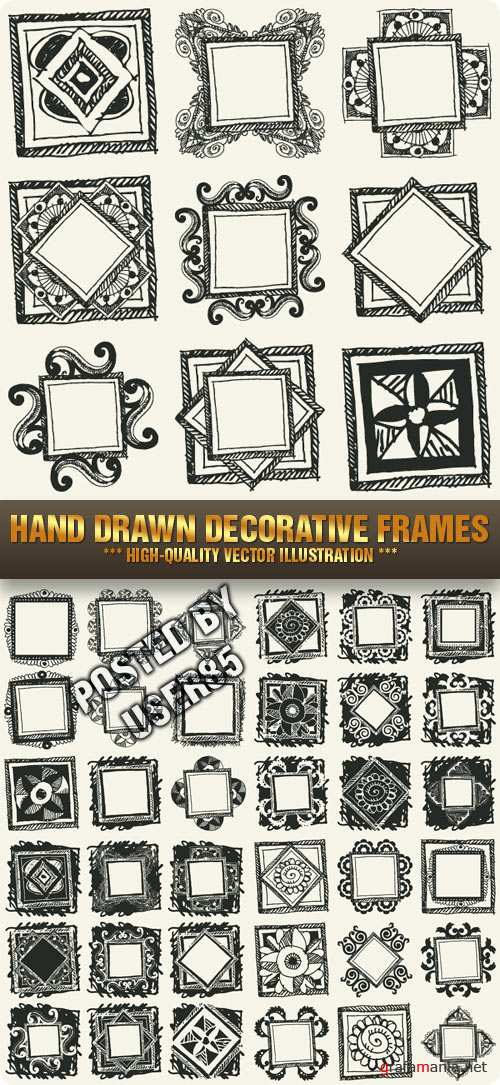 Stock Vector - Hand Drawn Decorative Frames