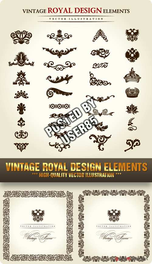 Stock Vector - Vintage Royal Design Elements