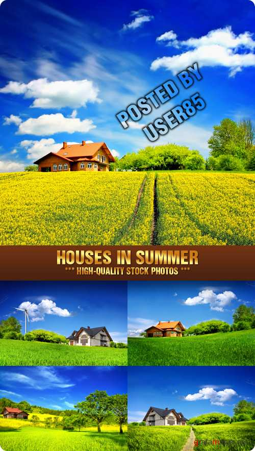 Stock Photo - Houses in Summer