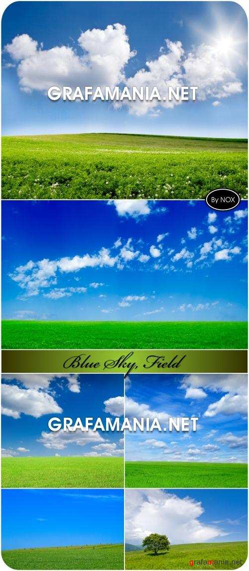 Blue Sky, Green Field - Небо, поле
